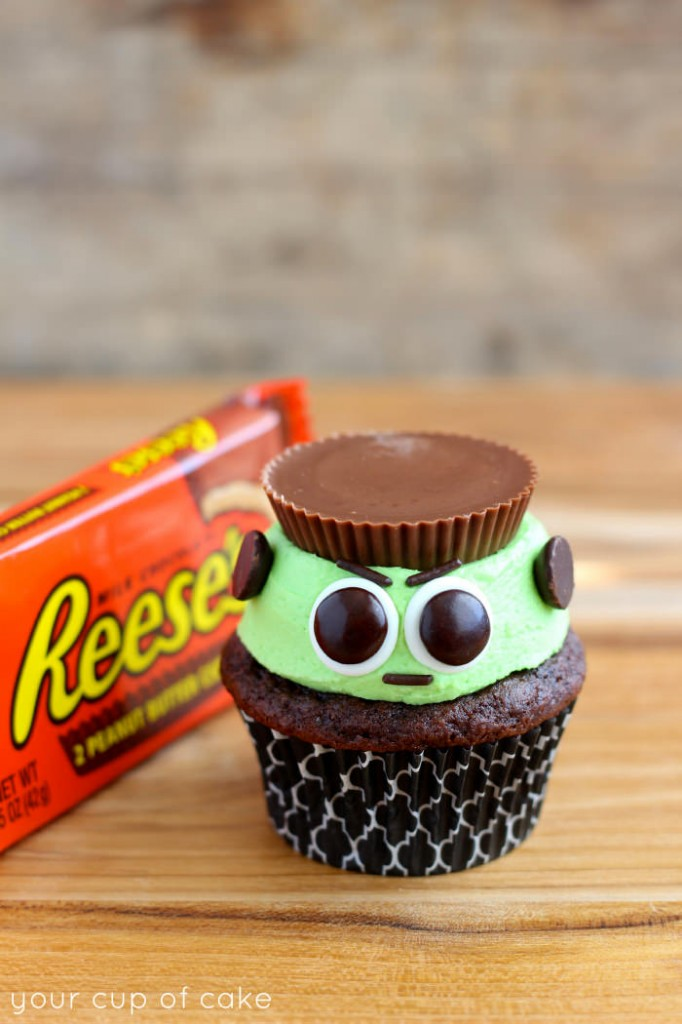 Reese's Frankenstein Cupcakes | Faith, Hope, Love, and Luck Survive Despite a Whiskered Accomplice