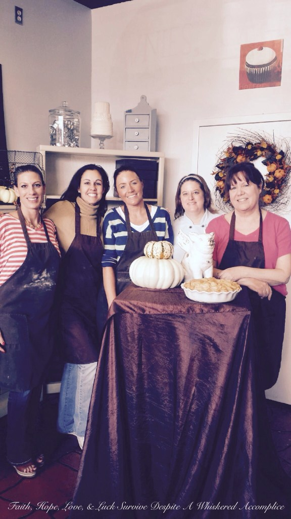 Thanksgiving Pie Class | Faith, Hope, Love, and Luck Survive Despite a Whiskered Accomplice