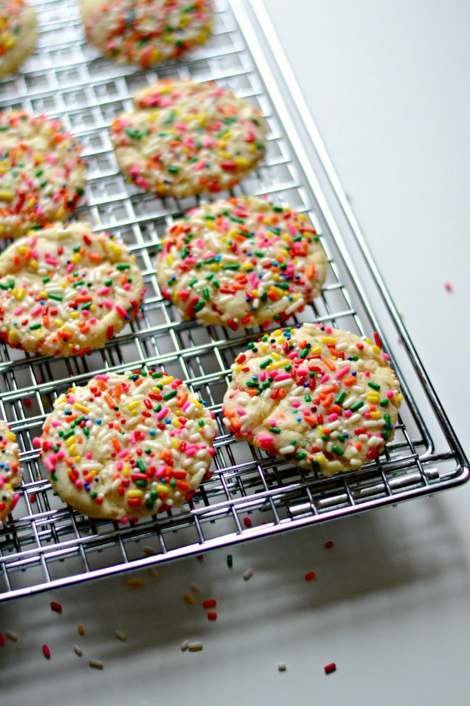 Vanilla Bean Confetti Cookies | Faith, Hope, Love, and Luck Survive Despite a Whiskered Accomplice