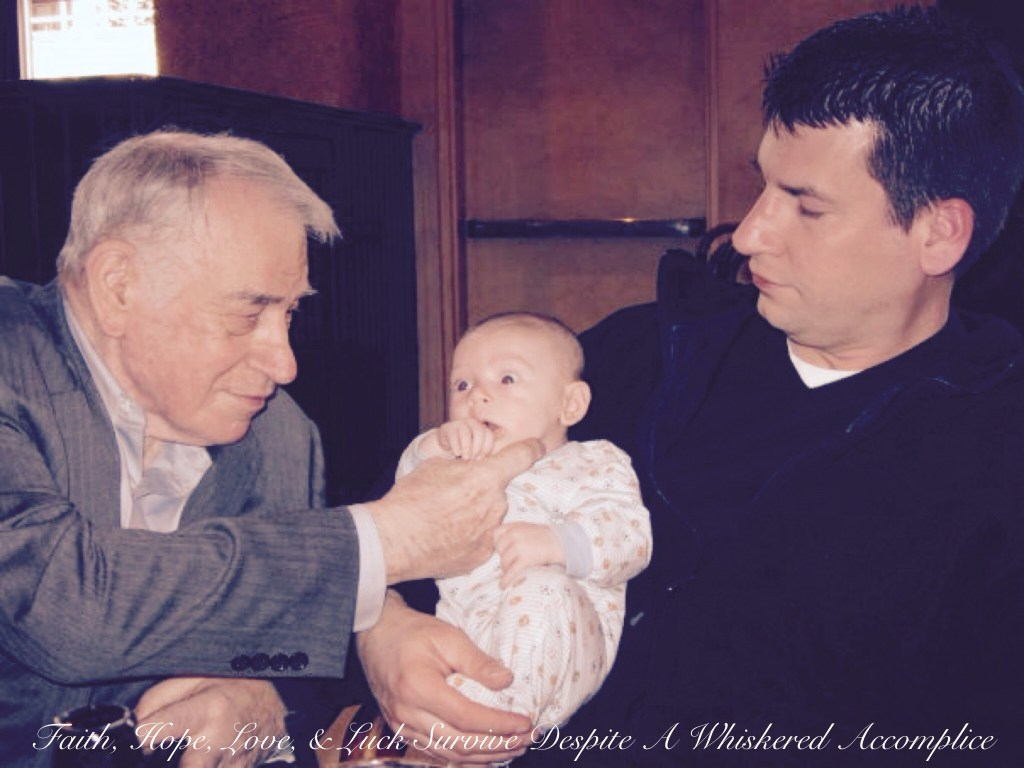 Three Generations of Matthews Men | Faith, Hope, Love, and Luck Survive Despite a Whiskered Accomplice