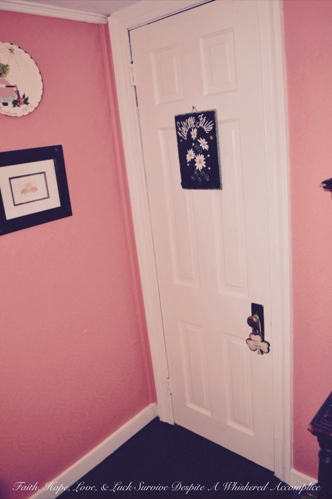 """""""Grandma's Room"""" Closet Revamp   Faith, Hope, Love, and Luck Survive Despite a Whiskered Accomplice"""