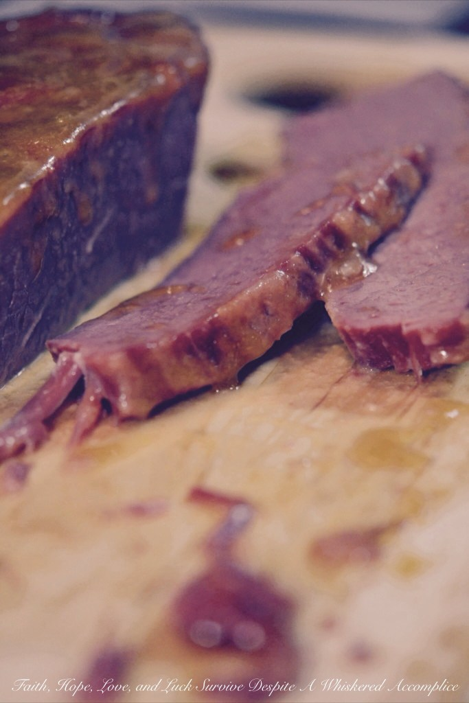 Candied Corned Beef Brisket | Faith, Hope, Love, and Luck Survive Despite a Whiskered Accomplice