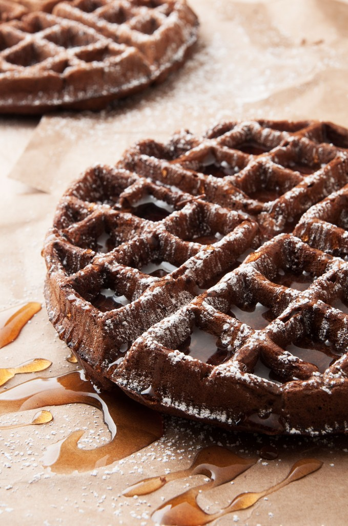 Dark Chocolate Waffles | Faith, Hope, Love, and Luck Survive Despite a Whiskered Accomplice