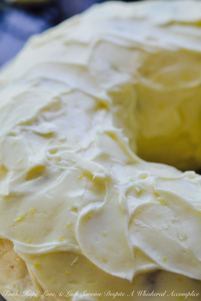 The Best Basic Cream Cheese Icing | Faith, Hope, Love, and Luck Survive Despite a Whiskered Accomplice