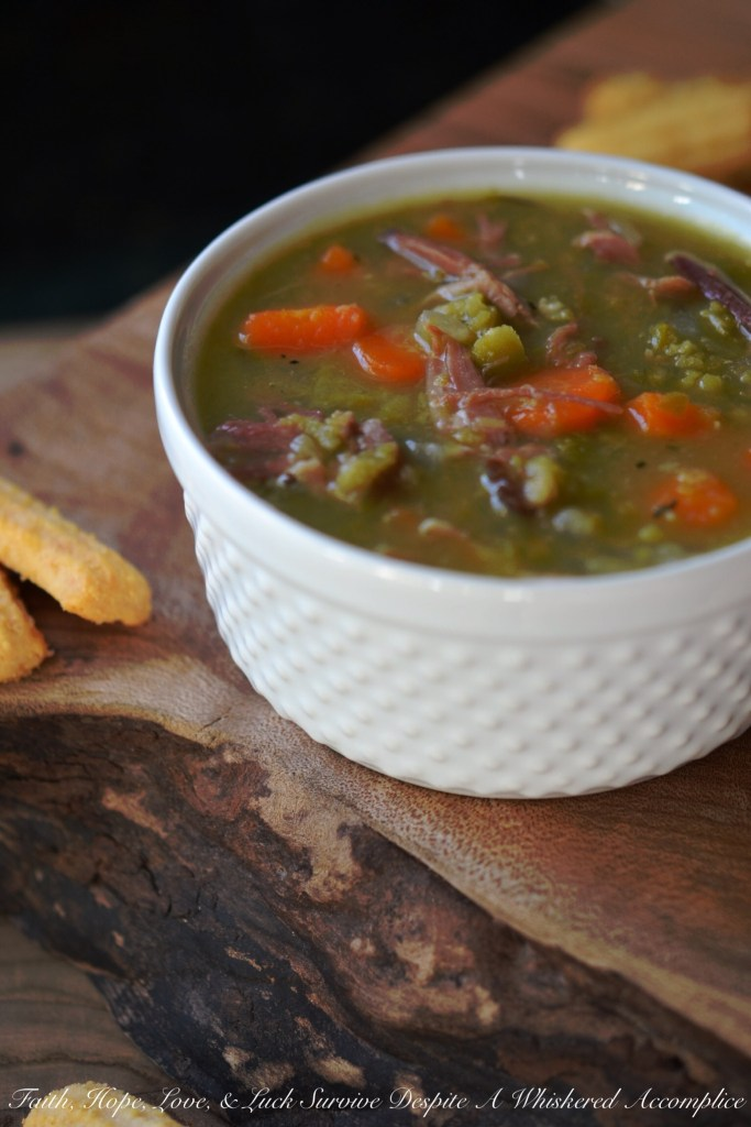 Lazy Ham and Split Pea Soup | Faith, Hope, Love, and Luck Survive Despite a Whiskered Accomplice