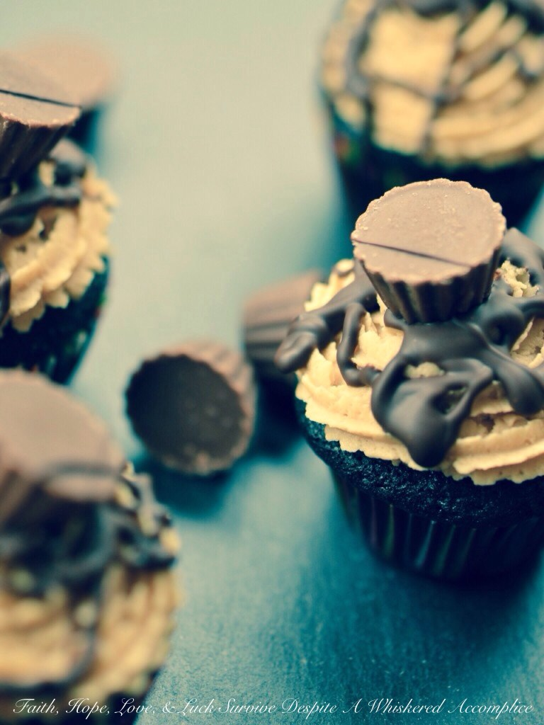 Reese's Minis Cupcakes   Faith, Hope, Love, and Luck Survive Despite a Whiskered Accomplice