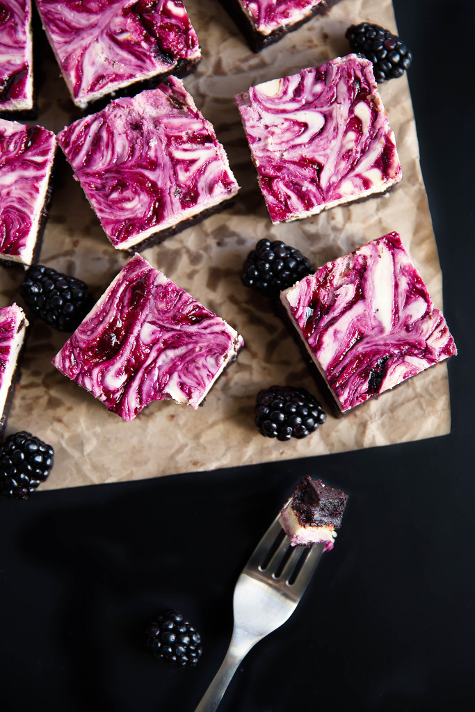 Blackberry Cheesecake Brownies | Faith, Hope, Love, and Luck Survive Despite a Whiskered Accomplice
