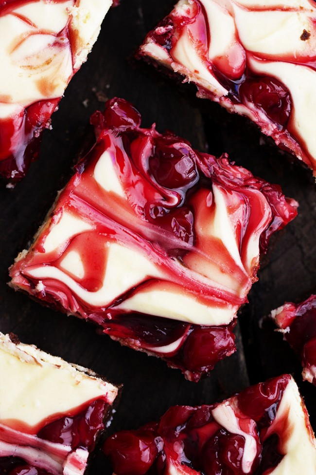 Cherry Cheesecake Brownies | Faith, Hope, Love, and Luck Survive Despite a Whiskered Accomplice