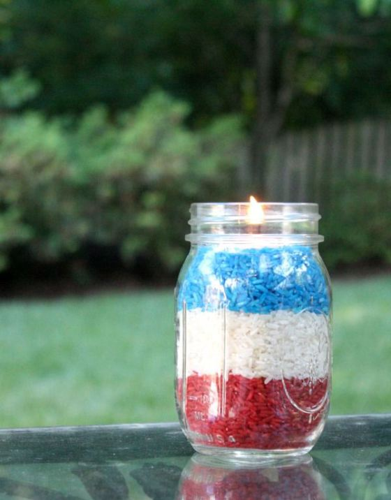 Fourth of July Votives | Faith, Hope, Love, and Luck Survive Despite a Whiskered Accomplice