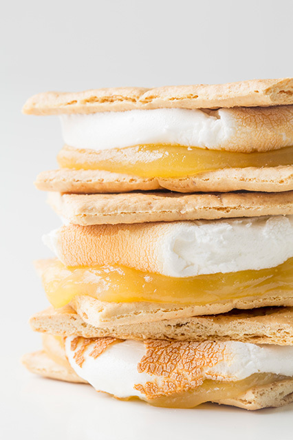 Lemon Meringue Pie S'mores | Faith, Hope, Love, and Luck Survive Despite a Whiskered Accomplice