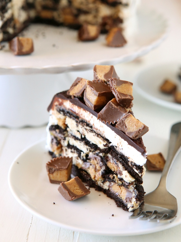 Reese's Chocolate Peanut Butter Icebox Cake | Faith, Hope, Love, and Luck Survive Despite a Whiskered Accomplice