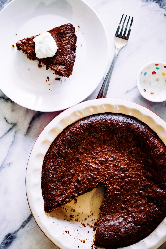 Chocolate Chess Pie with a Do-Si-Do Crust | Faith, Hope, Love, and Luck Survive Despite a Whiskered Accomplice
