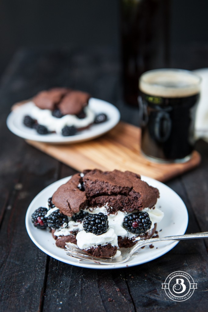 Chocolate Stout and Blackberry Shortcakes | Faith, Hope, Love, and Luck Survive Despite a Whiskered Accomplice