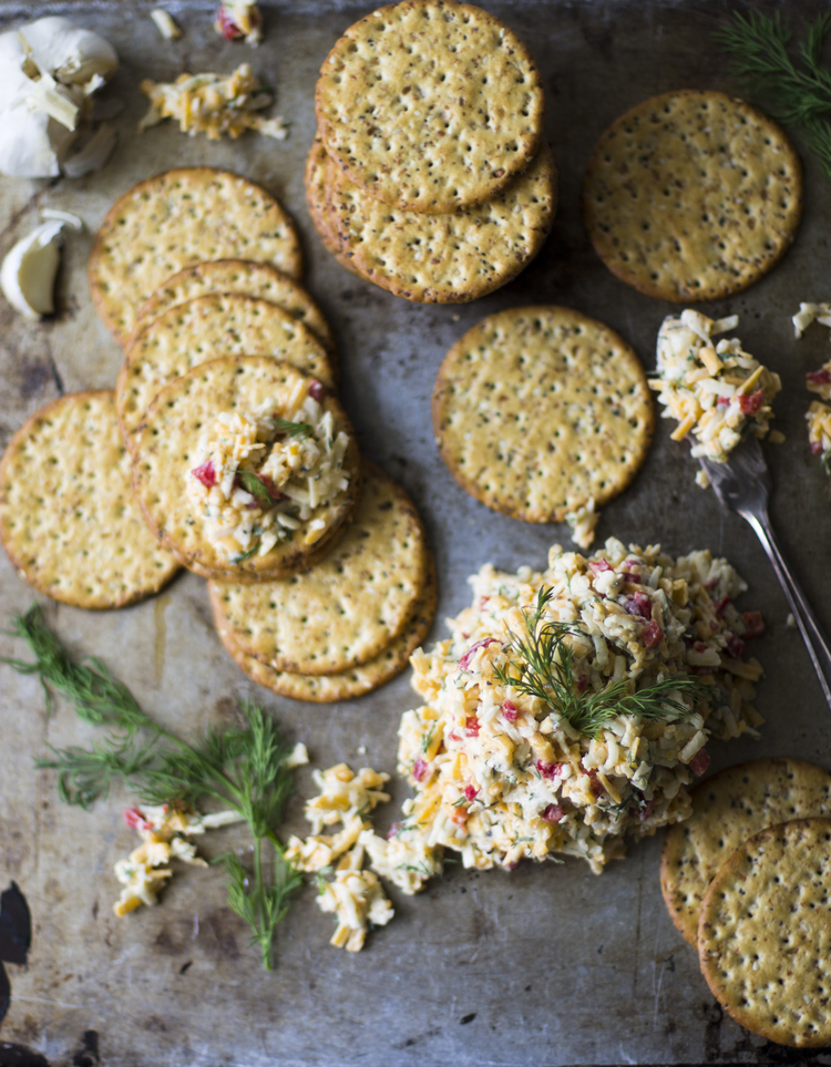 Dill and Garlic Pimento Cheese | Faith, Hope, Love, and Luck Survive Despite a Whiskered Accomplice