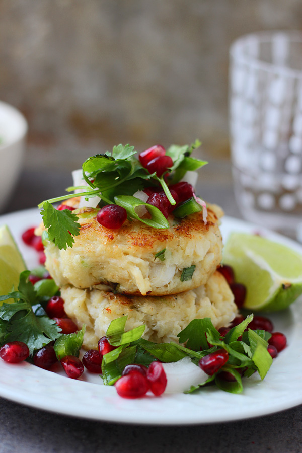 Crispy Crab Cakes with Pomegranate Salsa | Faith, Hope, Love, and Luck Survive Despite a Whiskered Accomplice