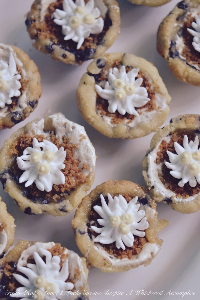 Chocolate Chip Shortbread Cookie Cups   Faith, Hope, Love, and Luck Survive Despite a Whiskered Accomplice