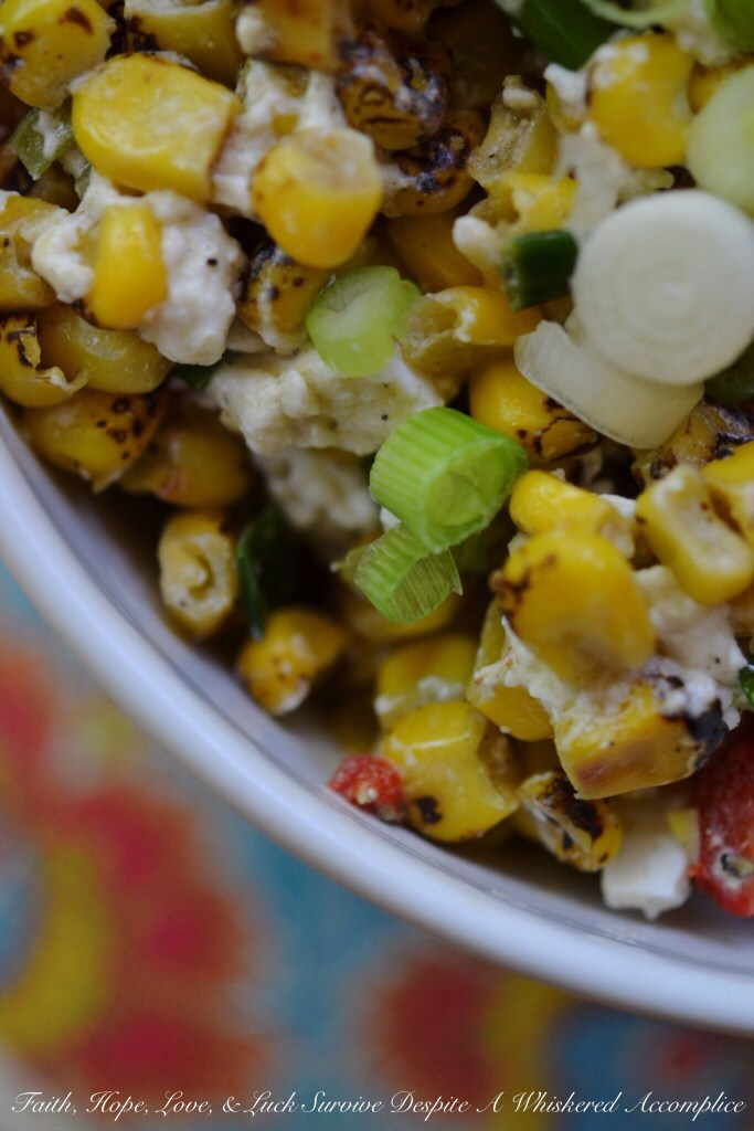 Summer Corn Salad | Faith, Hope, Love, and Luck Survive Despite a Whiskered Accomplice