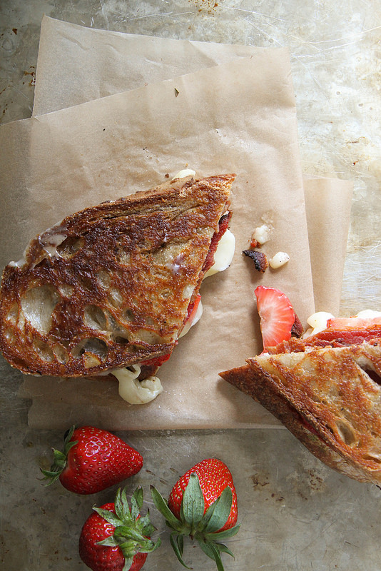Brie Bacon and Strawberry Grilled Cheese Sandwich | Faith, Hope, Love, and Luck Survive Despite a Whiskered Accomplice
