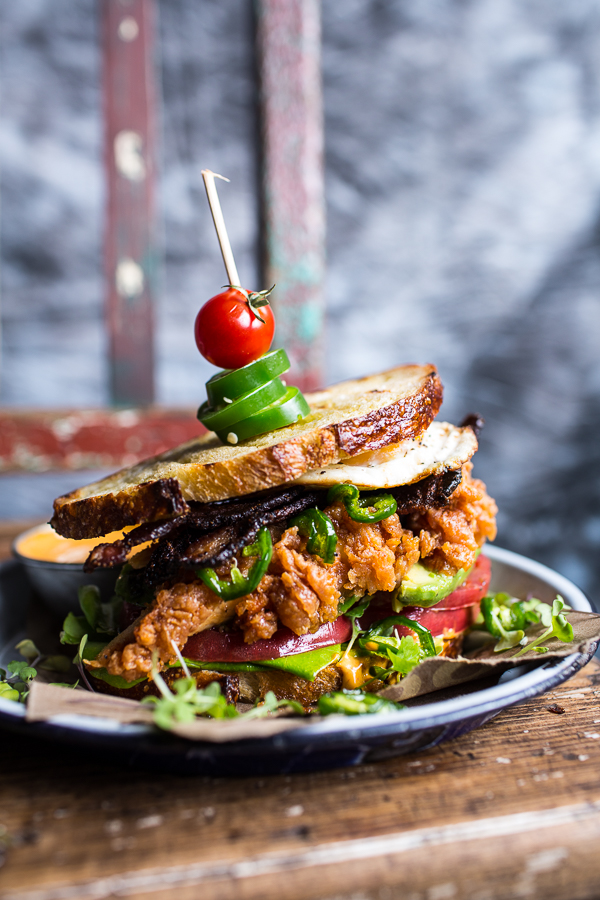 Fried Chicken BLT with Jalapeno Honey | Faith, Hope, Love, and Luck Survive Despite a Whiskered Accomplice