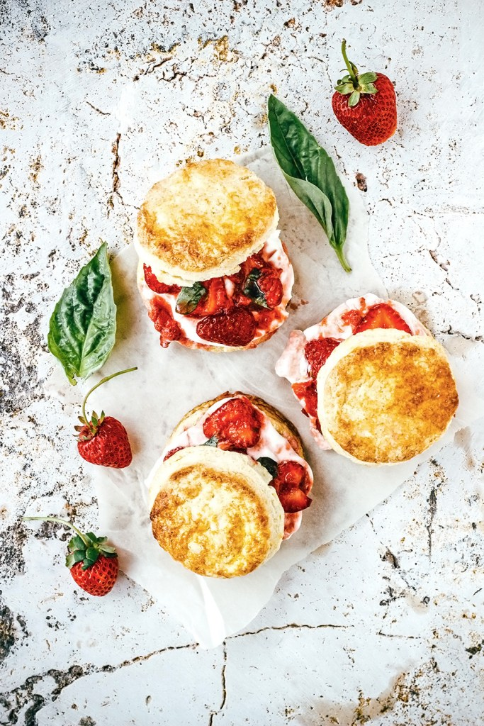 Strawberry Lime Basil Shortcakes | Faith, Hope, Love, and Luck Survive Despite a Whiskered Accomplice