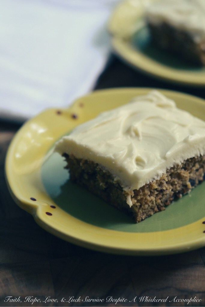 Tomato Juice Spice Cake | Faith, Hope, Love, and Luck Survive Despite a Whiskered Accomplice