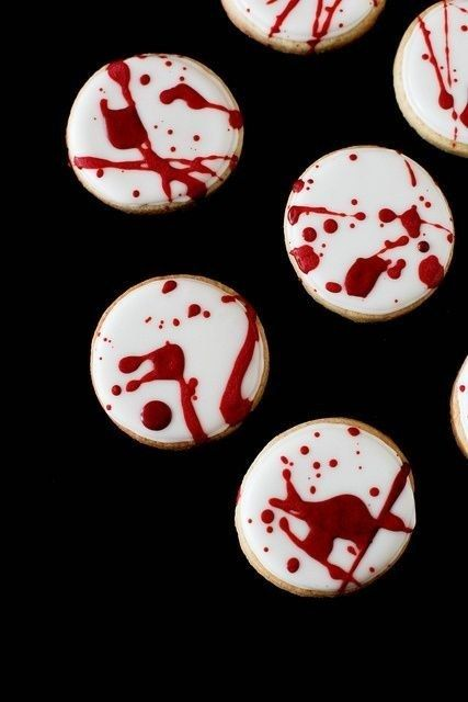 Blood Spatter Cookies | Faith, Hope, Love, and Luck Survive Despite a Whiskered Accomplice