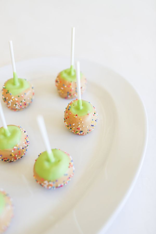 Caramel Apple Cake Pops   Faith, Hope, Love, and Luck Survive Despite a Whiskered Accomplice