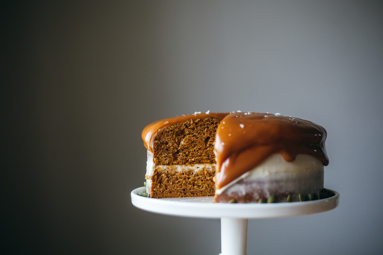 Pumpkin Layer Cake with Cream Cheese Frosting | Faith, Hope, Love, and Luck Survive Despite a Whiskered Accomplice