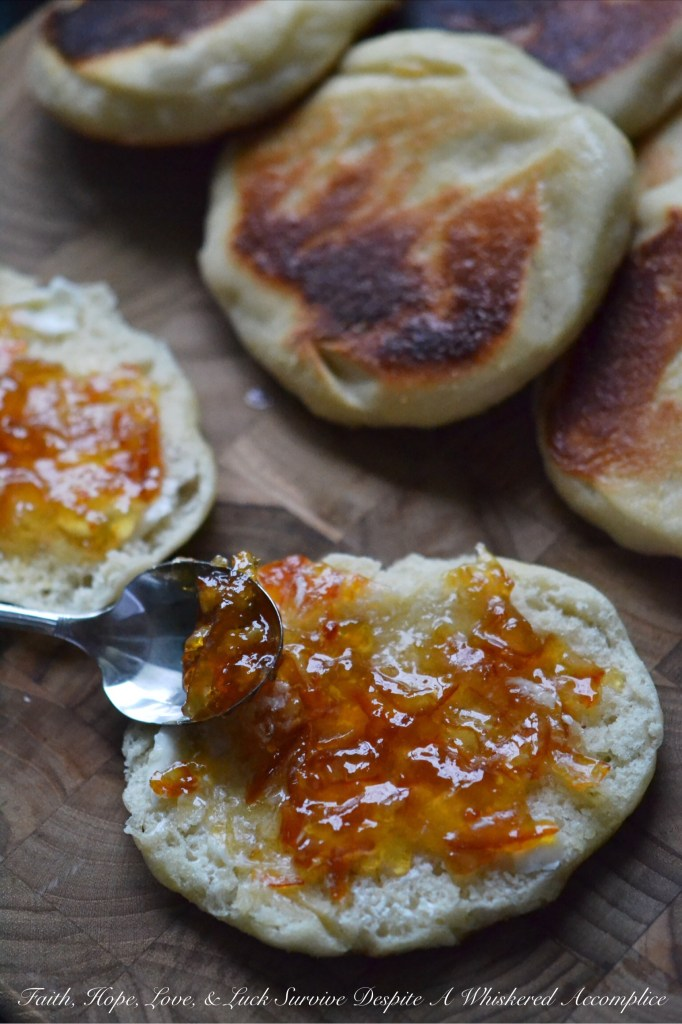 Jumbo English Muffins | Faith, Hope, Love, and Luck Survive Despite a Whiskered Accomplice