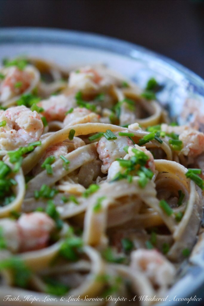 Langostino Cajun Fettuccine | Faith, Hope, Love, and Luck Survive Despite a Whiskered Accomplice