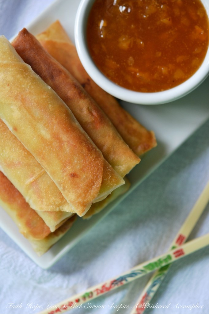 Egg Rolls Are Coming Soon   Faith, Hope, Love, and Luck Survive Despite a Whiskered Accomplice