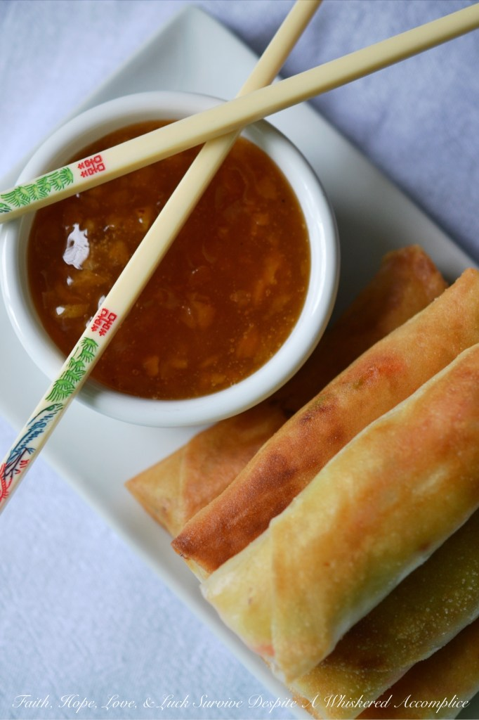 Egg Rolls Are Coming Soon | Faith, Hope, Love, and Luck Survive Despite a Whiskered Accomplice