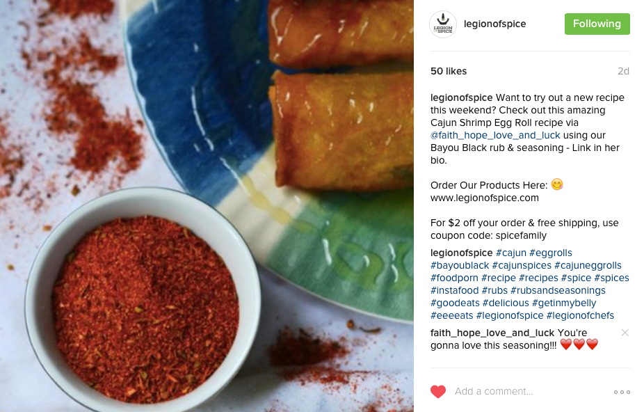 Legion of Spice Instagram Shout Out | Faith, Hope, Love, and Luck Survive Despite a Whiskered Accomplice