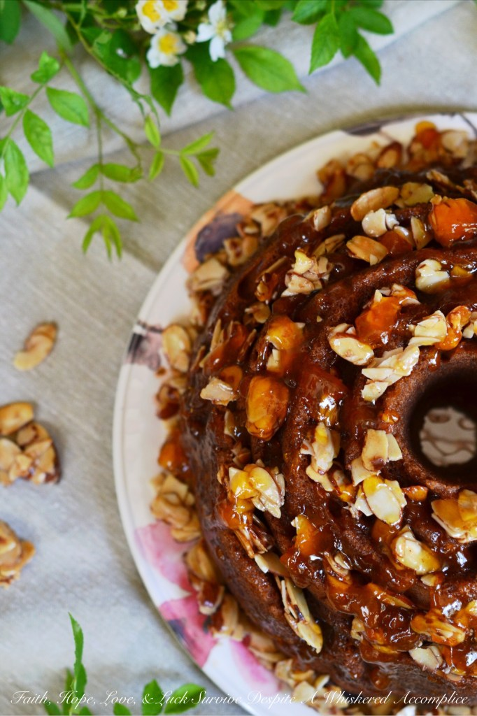 Honey Almond, Apricot, and Cream Cheese Filled Breakfast Cake | Faith, Hope, Love, and Luck Survive Despite a Whiskered Accomplice