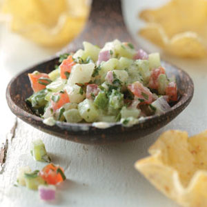 Crisp Cucumber Salsa Recipe | Faith, Hope, Love, and Luck Survive Despite a Whiskered Accomplice