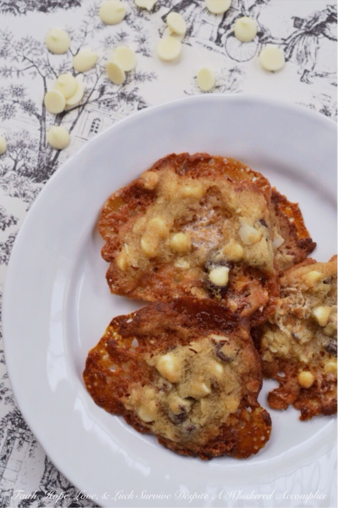 Rocky Road Lace Cookies | Faith, Hope, Love, and Luck Survive Despite a Whiskered Accomplice