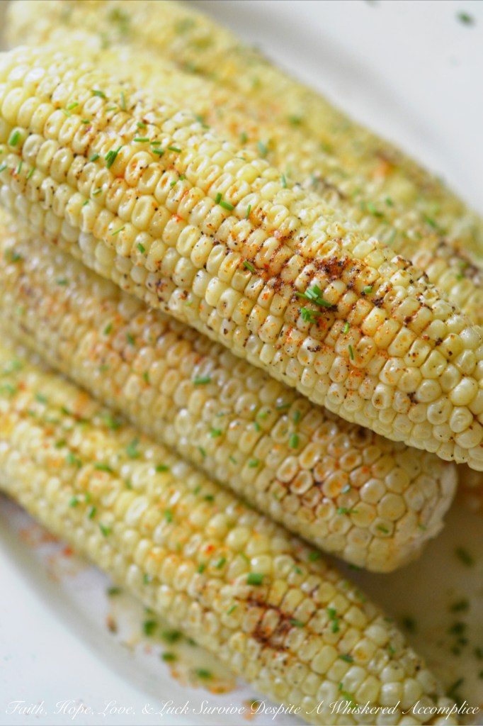 Summer Crockpot Crazy Corn | Faith, Hope, Love, and Luck Survive Despite a Whiskered Accomplice