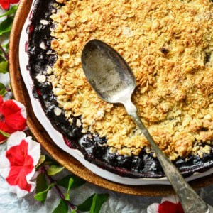 Instagram - Summer Blueberry Pie Crisp | Faith, Hope, Love, and Luck Survive Despite a Whiskered Accomplice