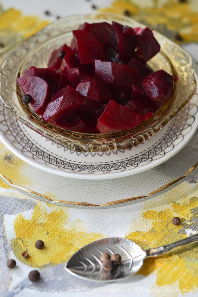 Sweet & Sour Quick Pickled Beets | Faith, Hope, Love, and Luck Survive Despite a Whiskered Accomplice