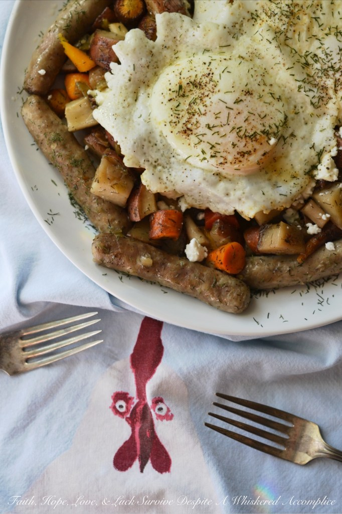 Summer Garden Breakfast Crockpot Hash | Faith, Hope, Love, and Luck Survive Despite a Whiskered Accomplice