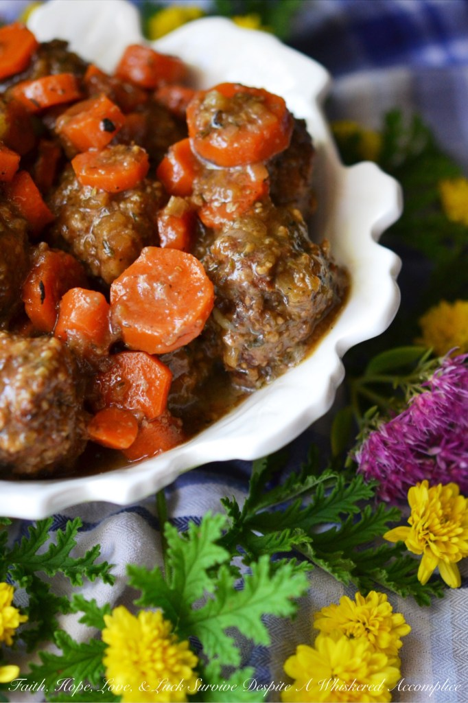 \Oktoberfest Smokehouse Bourbon Meatballs | Faith, Hope, Love, and Luck Survive Despite a Whiskered Accomplice
