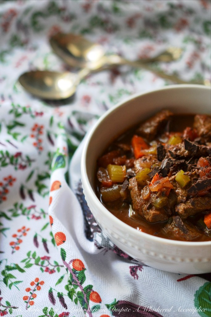 Chocolate Sirloin Chili   Faith, Hope, Love, and Luck Survive Despite a Whiskered Accomplice
