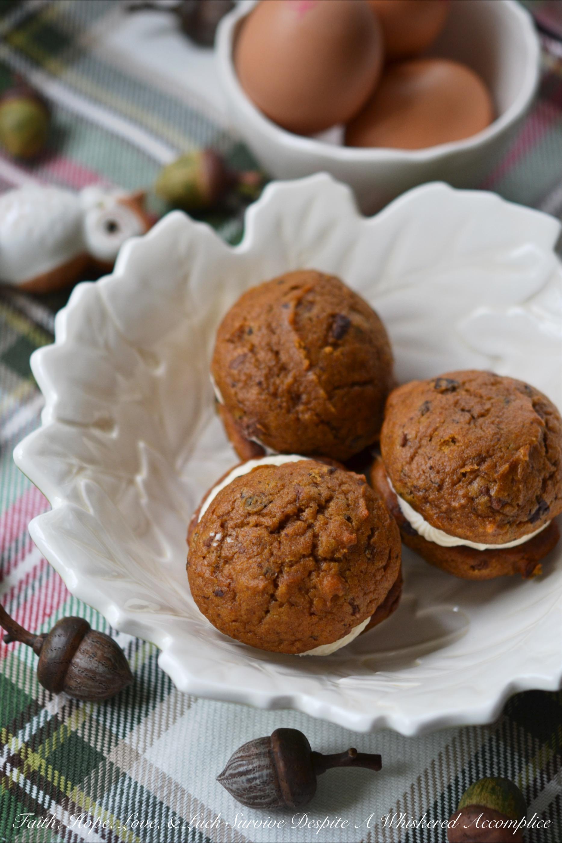 Winning Pumpkin Chocolate Whoopie Cookies