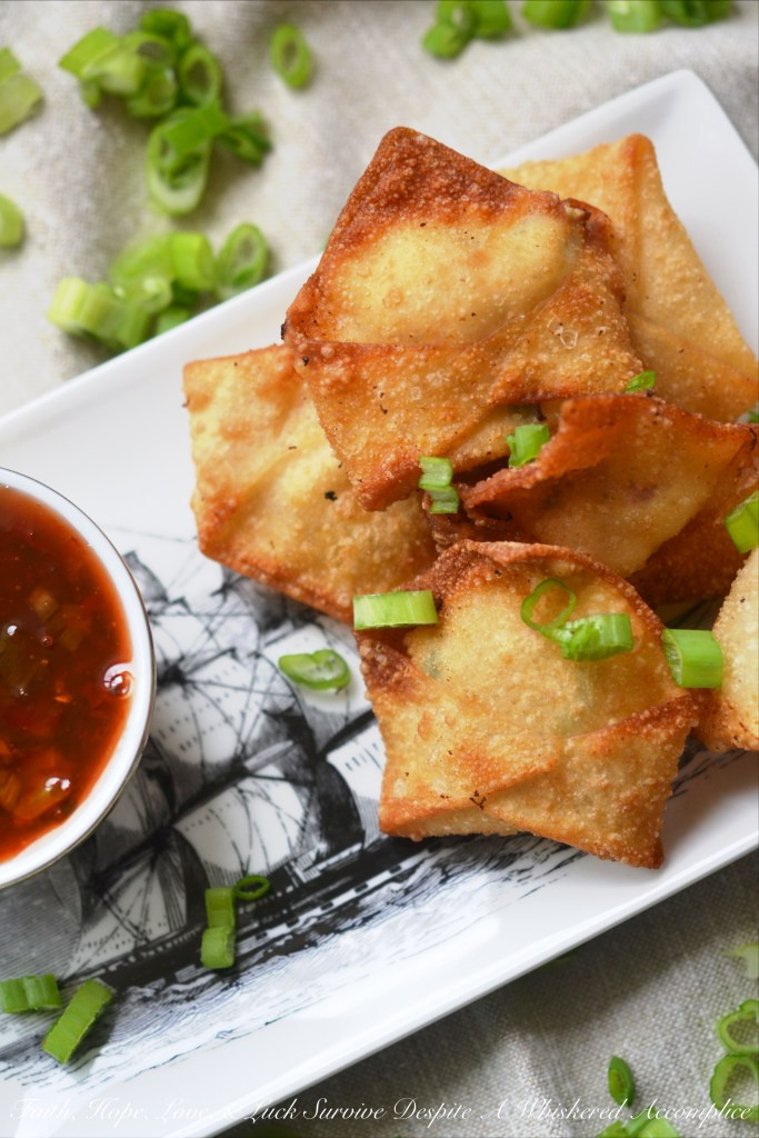 Southern Crab Rangoon | Faith, Hope, Love, and Luck Survive Despite a Whiskered Accomplice