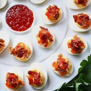 Instagram - Southern Red Pepper Jelly Deviled Eggs | Faith, Hope, Love, and Luck Survive Despite a Whiskered Accomplice