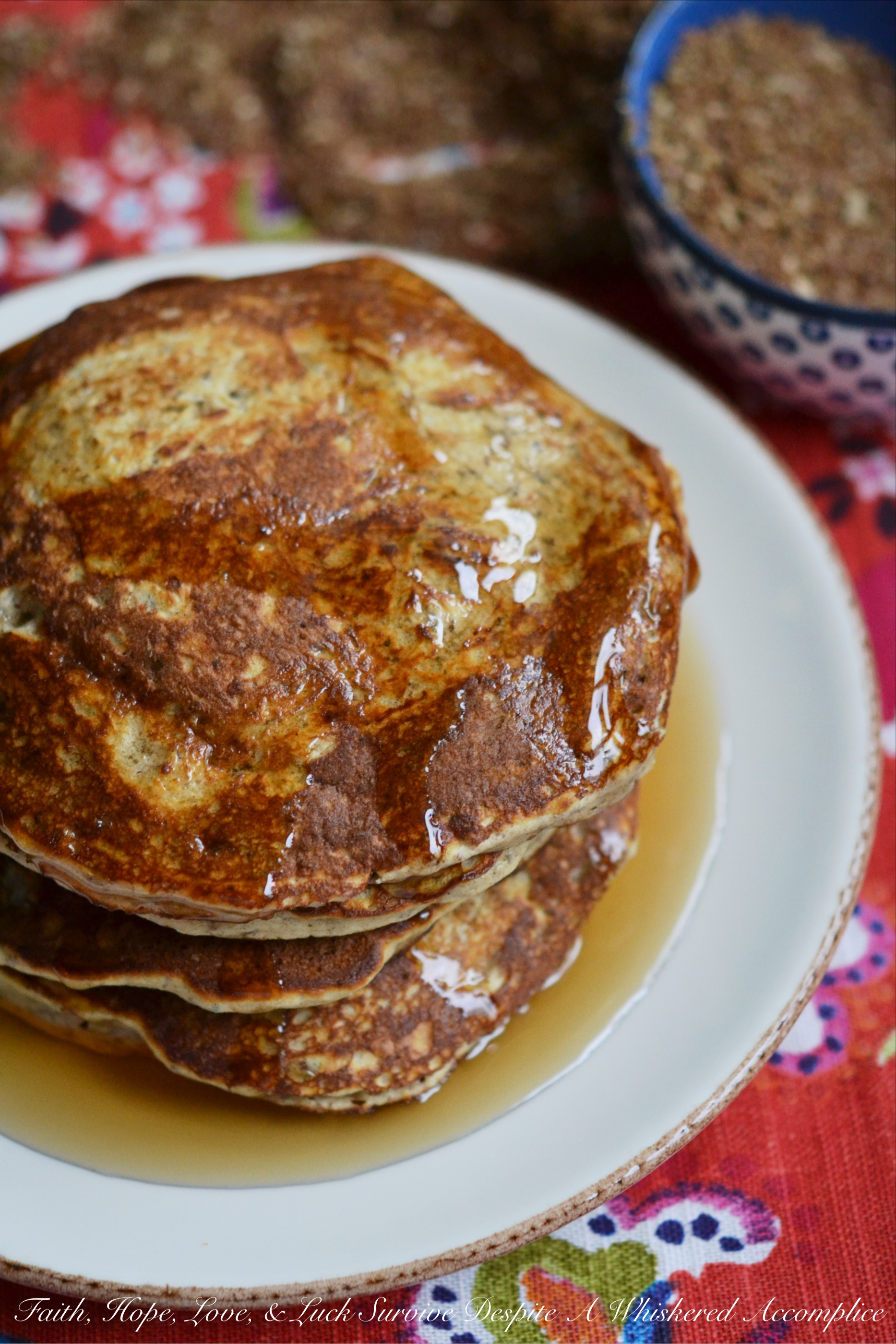 Small Batch Healthier Saturday Pancakes