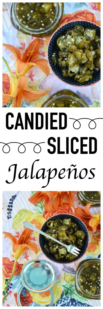 Add a little bit of sweet heat to all of your favorite summer sandwiches, salads, and appetizers with these sweet and spicy candied sliced jalapeños.