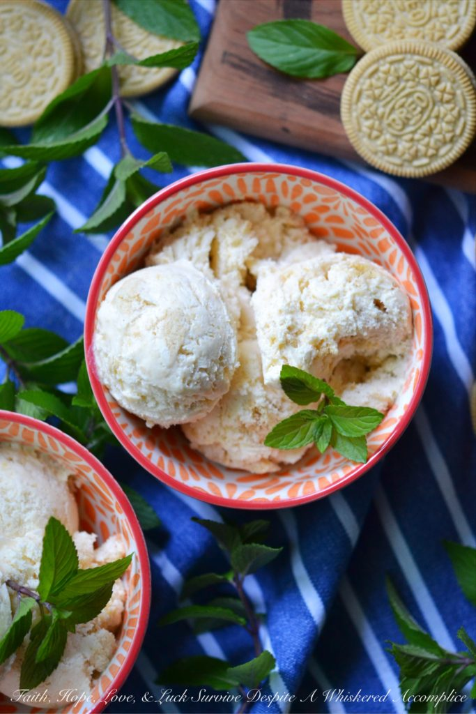 Golden Oreo Peach Cobbler Ice Cream