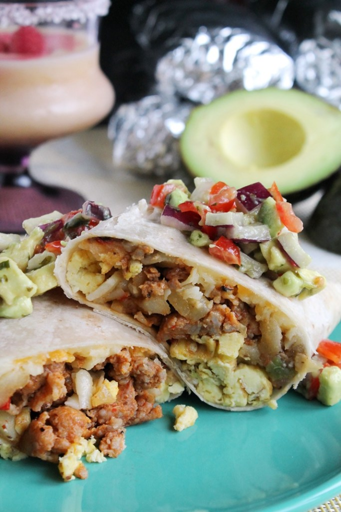 Chorizo Breakfast Burritos - The Spiffy Cookie