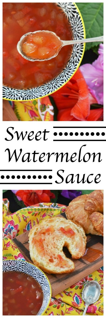 Whether drizzled over a warm croissant or used as a mixer in your favorite summer cocktail, this Sweet Watermelon Sauce is sure to win your taste buds over.